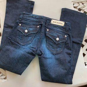 Rock Revival Heather Designer Boot Jeans Size 29